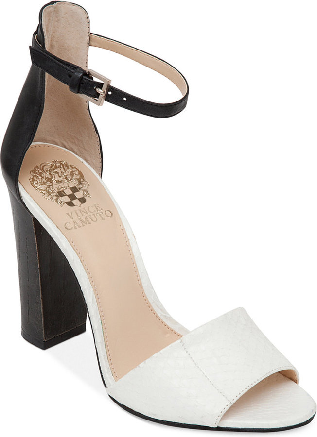 Vince Camuto Velenza Block Heel Ankle Strap Dress Sandals | Where ...