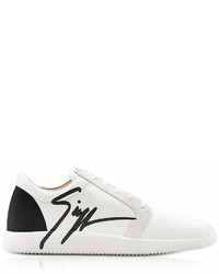 Giuseppe Zanotti G Runner Black And White Low Top Sneakers
