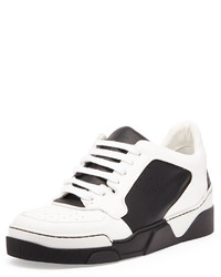 Tyson leather low top sneaker blackwhite medium 405374