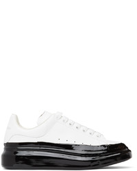 Alexander McQueen White Black Dipped Oversized Sneakers