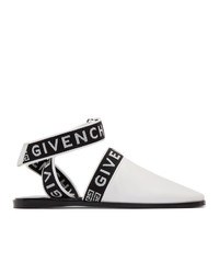 Givenchy White Mules