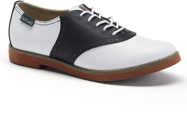 Womens Patent Leather Saddle Shoes