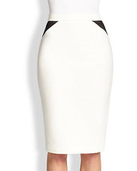 Elizabeth and James Ava Mesh Detail Pencil Skirt