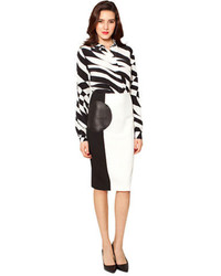 Raoul Bree Colorblock Pencil Skirt