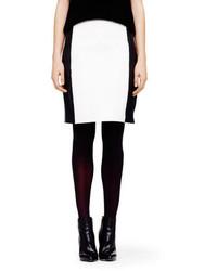 Club Monaco Lorella Leather Paneled Skirt