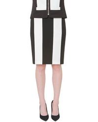 Isaac Mizrahi New York Striped Pencil Skirt
