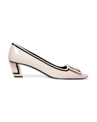 Roger Vivier Belle Vivier Graphic Med Leather Pumps