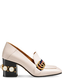 Gucci Leather Mid Heel Loafer