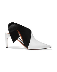 Altuzarra Patent Leather And Satin Slingback Mules