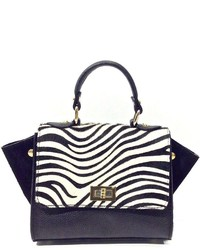 Leather Country Black White Zebra