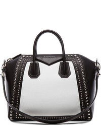 Givenchy Medium Canvas And Waxy Leather Antigona