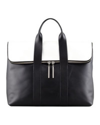3.1 Phillip Lim 31 Hour Fold Over Tote Bag Blackwhite