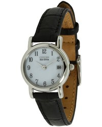 Citizen Watches Ew1270 06a Eco Drive Leather Watch