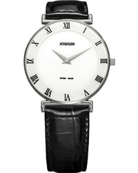 Jowissa J2002l Roma White Dial Roman Numeral Black Patent Leather Watch