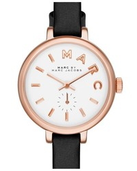Marc Jacobs Sally Round Leather Strap Watch 28mm