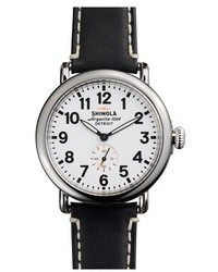 Shinola The Runwell Leather Strap Watch 41mm