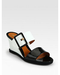 Vernis patent leather wedge slides medium 38228