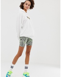 ASOS DESIGN Animal Print With Neon Pop Legging Short