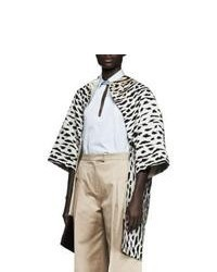 White and Black Leopard Coat