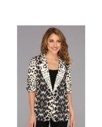 Karen Kane Leopard Print Jacket Coat