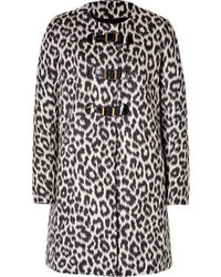Wool blend monteau coat in noir medium 47968