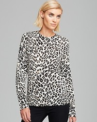 Equipment Sweater Shane Modern Leopard Print Crewneck