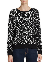 Leopard patterned dolman pullover medium 126212