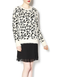POL Leopard Print Sweater