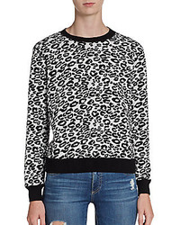Leopard print sweatshirt medium 126233