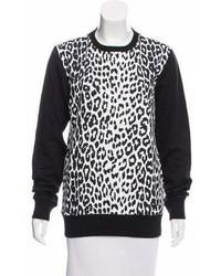 Markus Lupfer Leopard Printed Crew Neck Sweatshirt W Tags