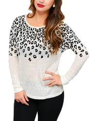 Lumiere White Leopard Sweater