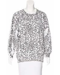 Balmain Printed Long Sleeve Sweater