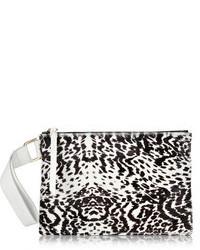 Newbark newbark leopard print calf hair clutch medium 110981