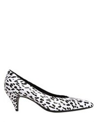 Saint laurent 50mm kitten leopard leather pumps medium 77476