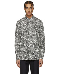 White and Black Leopard Long Sleeve Shirt