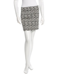 Tibi Leopard Patterned Mini Skirt
