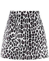 MSGM Leopard Print A Line Skirt