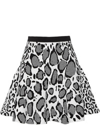 Ohne Titel Leopard Print Stretch Jacquard Knit Mini Skirt