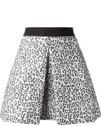 Pinko Leopard Mini Skirt