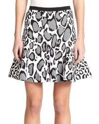 Ohne Titel Reversible Leopard Print Skirt