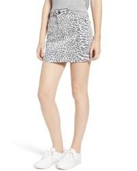 Current/Elliott The Five Pocket Cutoff Denim Miniskirt