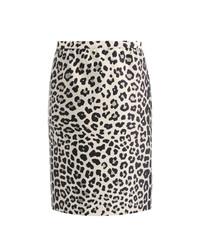 Marc Jacobs Satin Leopard Print Pencil Skirt