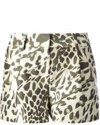 Diane von Furstenberg Naples Leopard Print Shorts