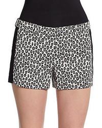 Rachel Zoe William Leopard Print Tuxedo Shorts
