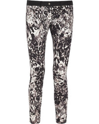 Animal print stretch cotton skinny pants medium 85843