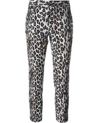 Leopard print skinny trousers medium 318142