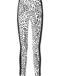 Haider Ackermann Leopard Print Wool And Leather Slim Leg Pants