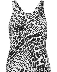 Leopard print stretch jersey tank medium 3662227