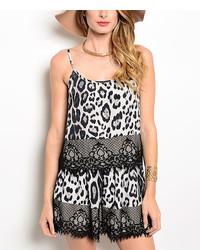 White black leopard tank shorts medium 3662228