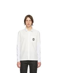 Neil Barrett White Cotton Sleeve Linen Shirt